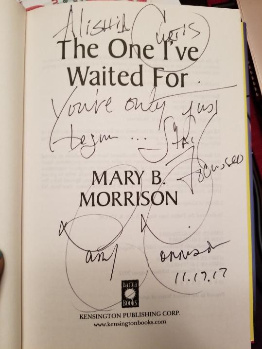 Mary B autograph